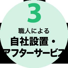 3.職人による自社設置・アフターサービス